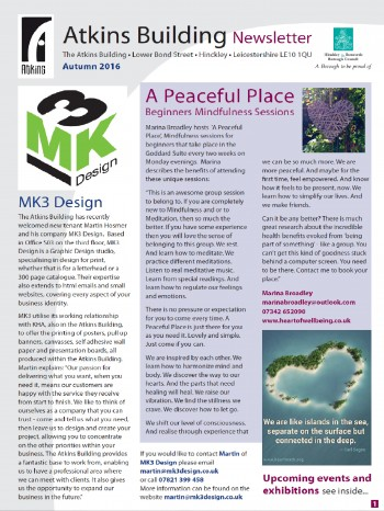 Atkins Newsletter front page
