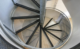 a photo of our spiral staircase