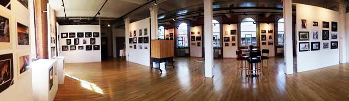 a photo of the gallery space