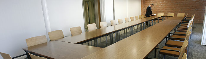 a photo of the conference room