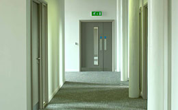a photo of the 1st floor hallway at The Atkins