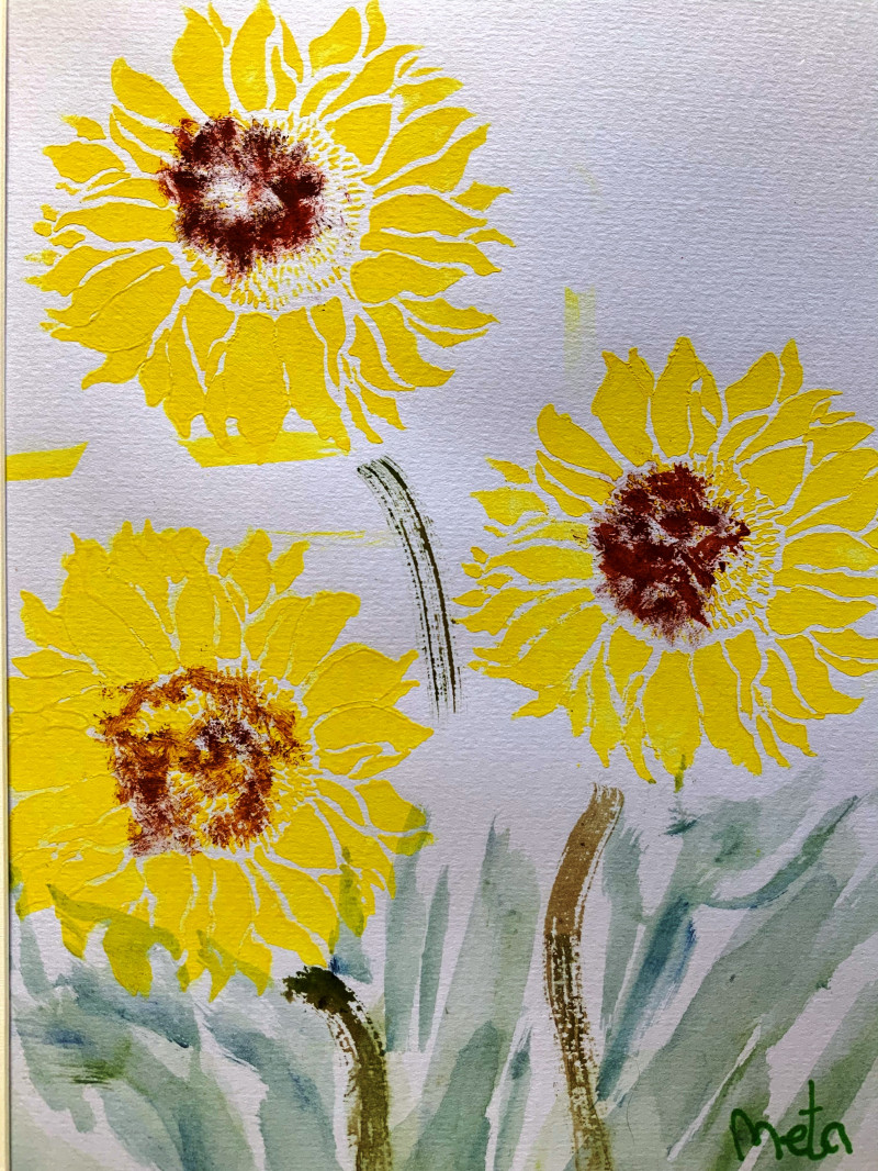 A photo of 'Floral Study -Sunflowers' by Meta, a member of the Art to Heart Group