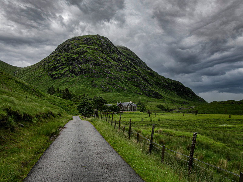 A photo of 'Walking to the Hill in Scotland' by D Gallimore