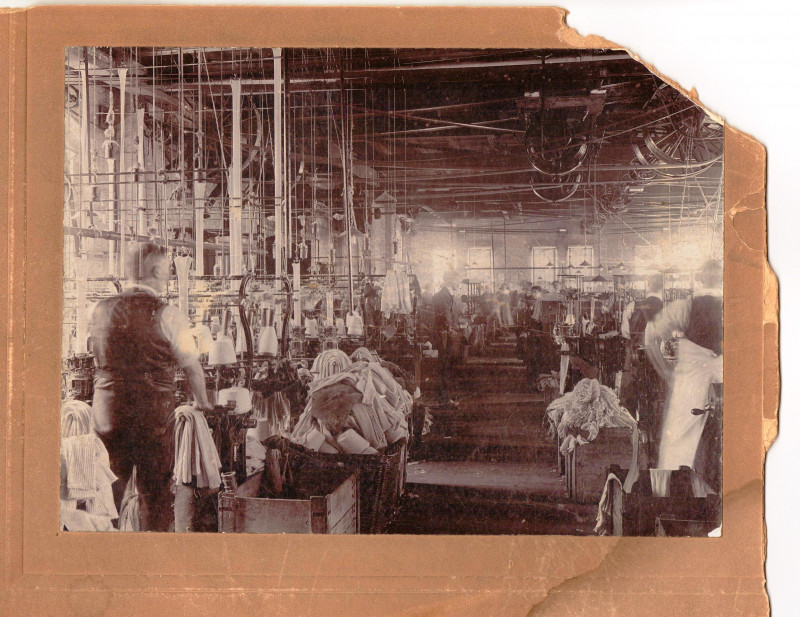 A photo of 'Atkins Factory interior, unknown date' by Hinckley & District Museum