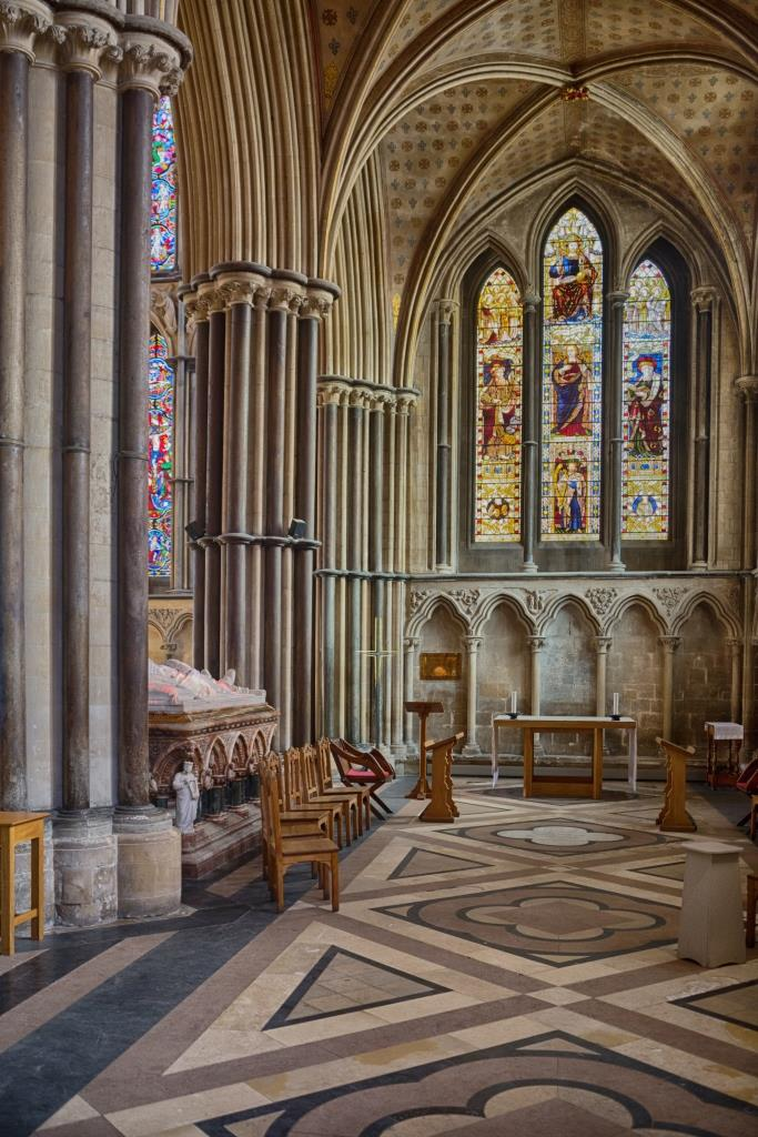 A photo of 'Worcester Cathedral, Side Chapel' by R Dallywater