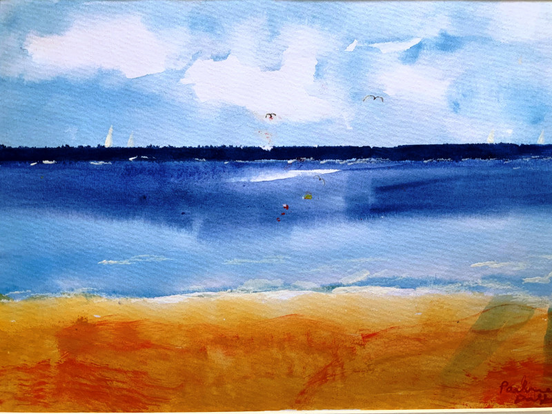 A photo of 'Beach Scene' by Pauline,  a member of the Art to Heart Group