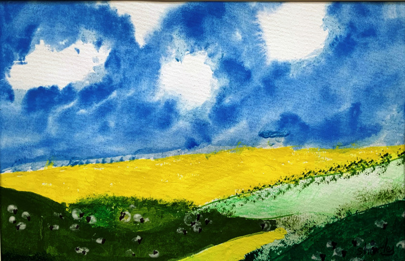 A photo of 'Landscape study' by a member of the Art to Heart Group
