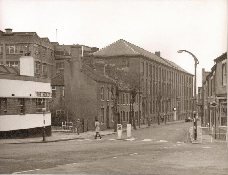 A photo of 'Atkins Building façade, Upper Bond Street view' by Hinckley & District Museum