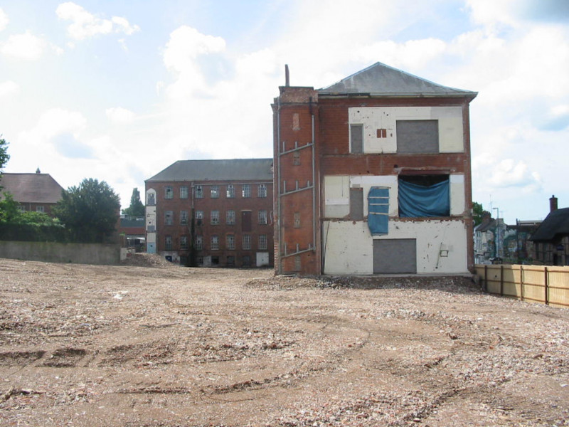 A photo of 'Atkins Factory site in June 2008' by Hinckley and Bosworth Borough Council