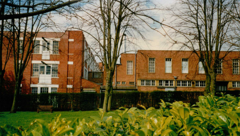A photo of 'View of Atkins factory from Hinckley Great Meeting Chapel ' by Hinckley & District Museum