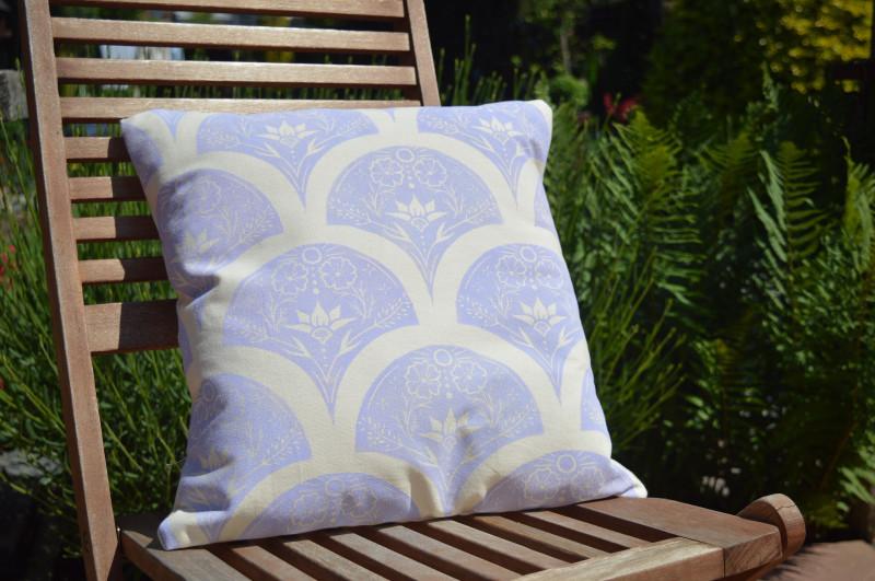 A photo of 'Cushion in Lilac' by Ellie York https://ellieyorkdesign.myportfolio.com/