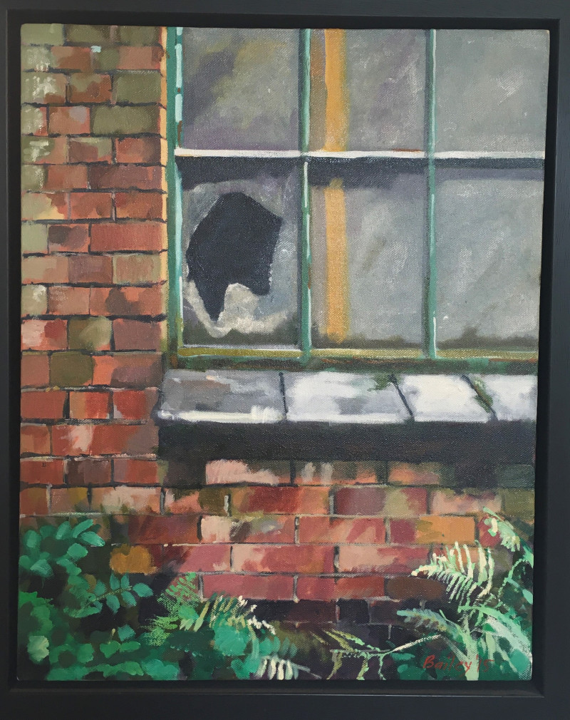A photo of 'GHOSTS OF INDUSTRY   Stained Glass' by Geoff Bailey