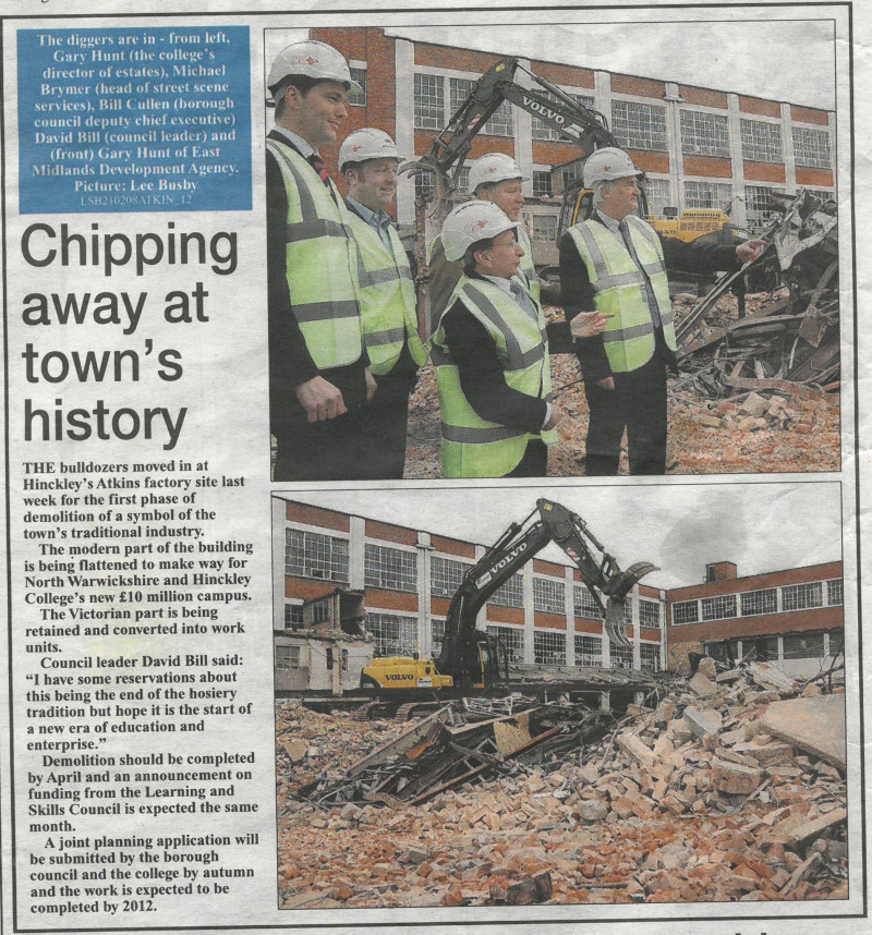 A photo of 'Press clipping from June 2008' by Hinckley Times (newspaper)