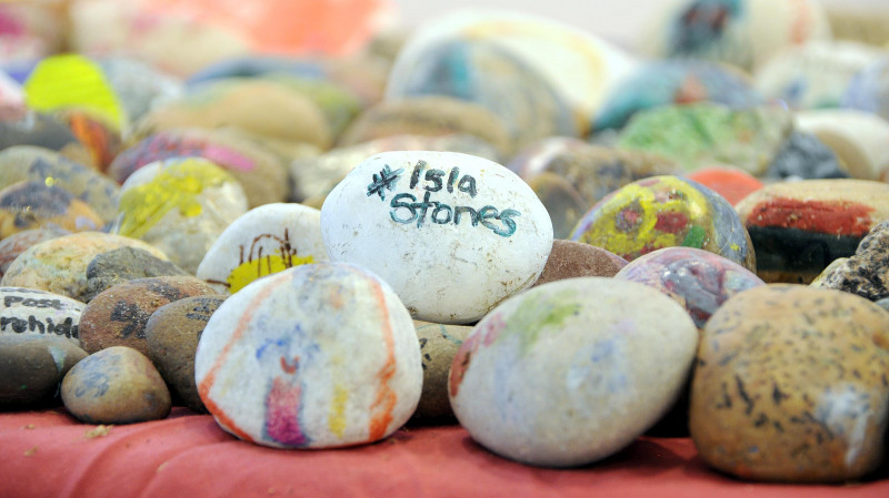 A photo of 'Atkins Gallery- #Islastones Exhibition August 2018' by Hinckley and Bosworth Borough Council