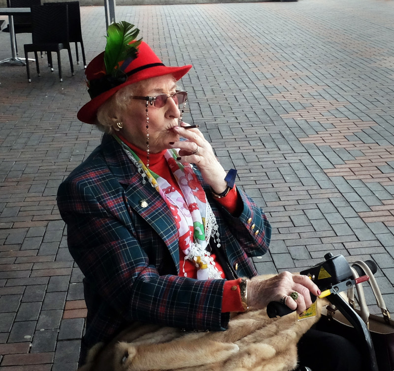 A photo of 'Lady smoking in Birmingham' by David Kingston