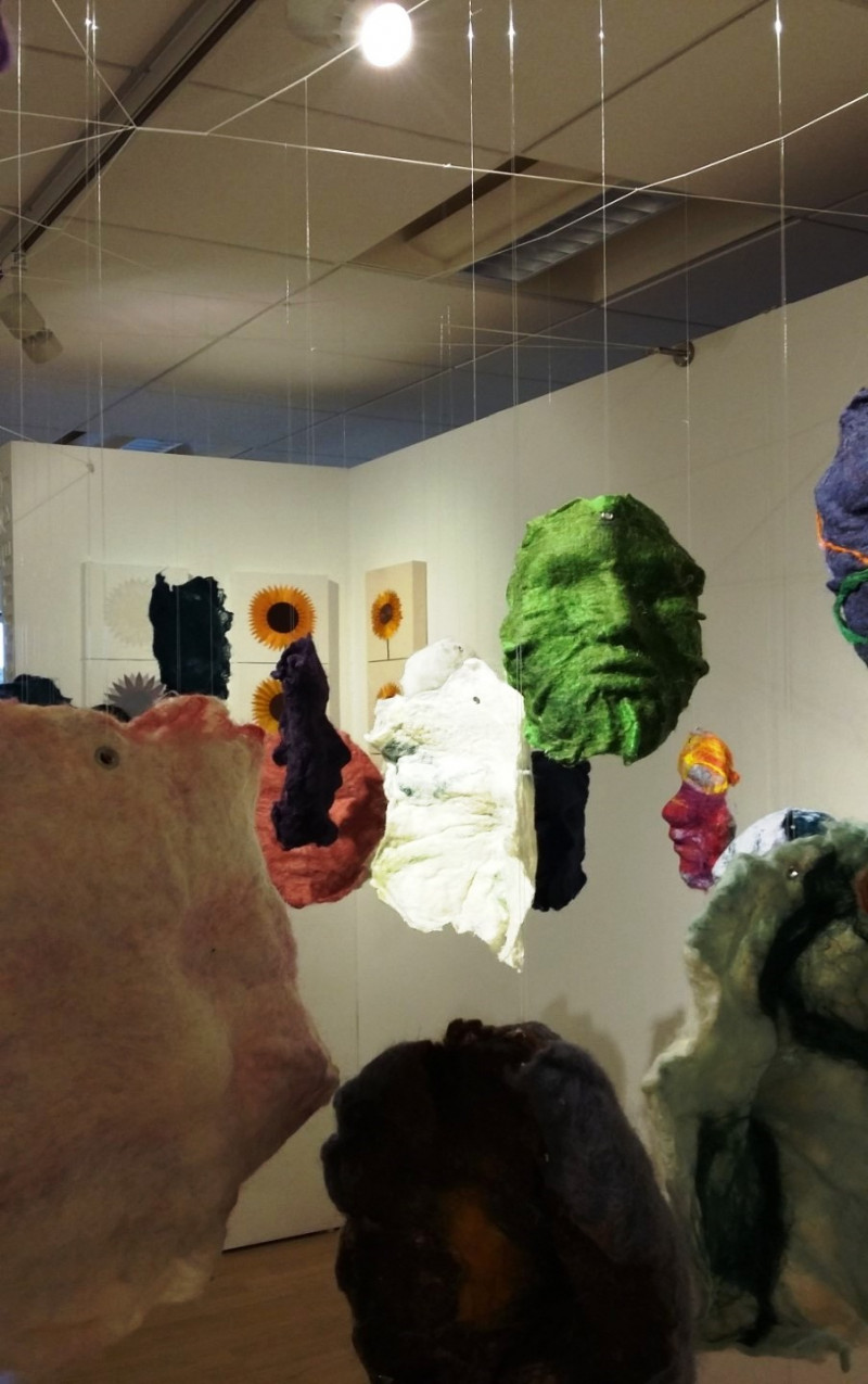 A photo of 'Close up on part of Mask installation' by Penny Andrews