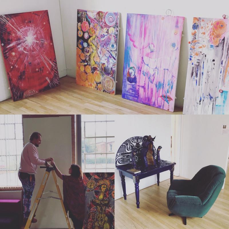 A photo of 'Exhibition set up' by Martin Cibik, Veronika Pagacova Chloe Bates Simone Williams and Dora Lit