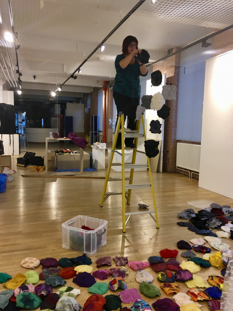 A photo of 'The set up of Mask installation' by Penny Andrews