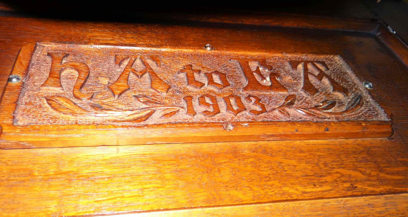 A photo of 'Wood Carving inside the Chapel' by Mike Everton