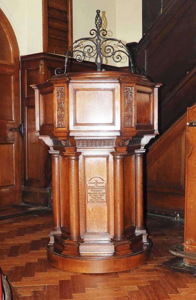 A photo of 'Font inside the Chapel' by Mike Everton