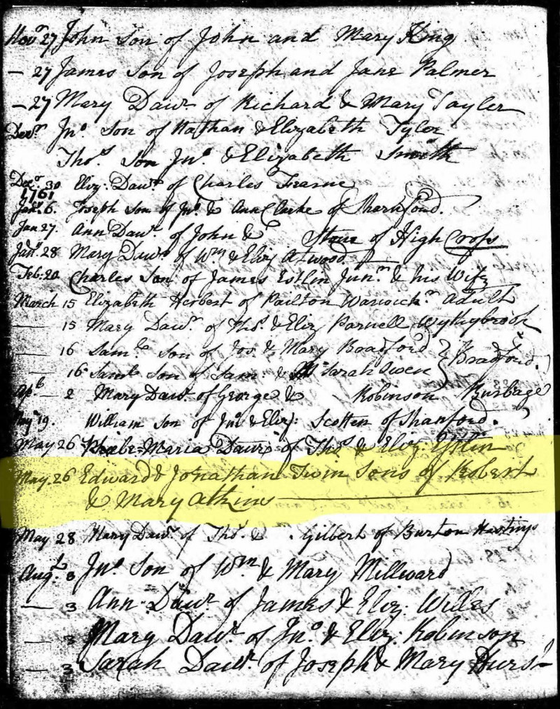 A photo of 'Baptism Records' by Chapel Archive