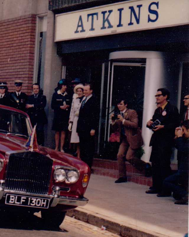 A photo of 'Atkins Factory entrance in 1972 ' by Hinckley & District Museum