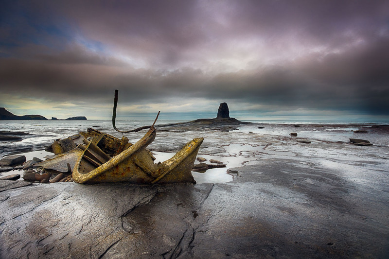 A photo of 'Saltwick Wreck' by Julie Holbeche Maund