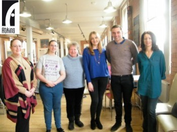 Left to Right: Michelle Kemp Photography, Ann Patchett, Anne Jones, Prize Draw Winners Hannah and Ethan, and Emma Banks