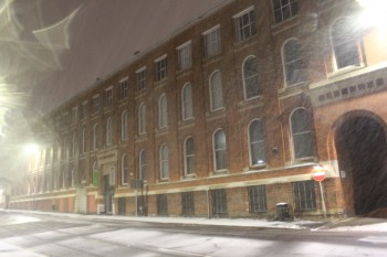 Snowy Atkins Building by local photographer Ross Kilgour
